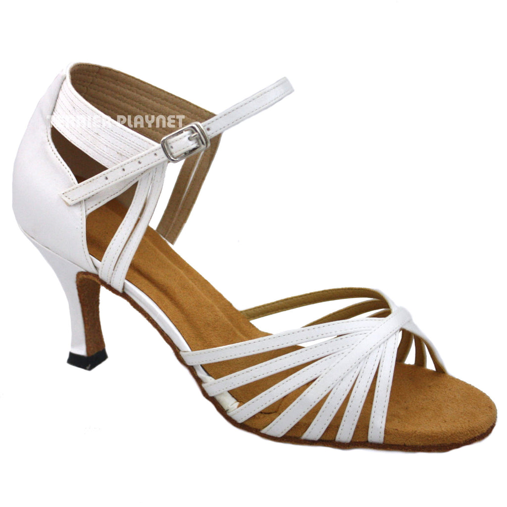 White Women Dance Shoes D1033