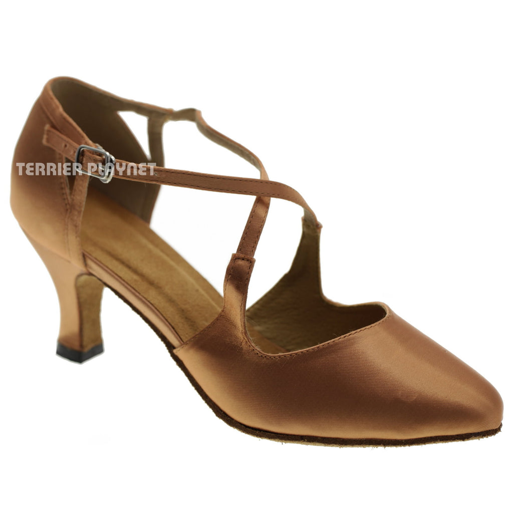 Tan Women Dance Shoes D1035