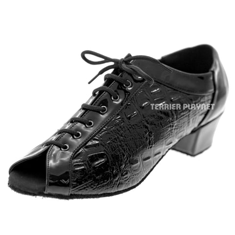 Black Women Dance Shoes D1046 UK5/US7.5/EU38 1.5 Inches/3.75cm Heel