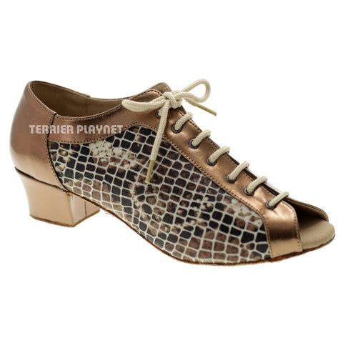 Snake Skin Pattern Women Dance Shoes D1049