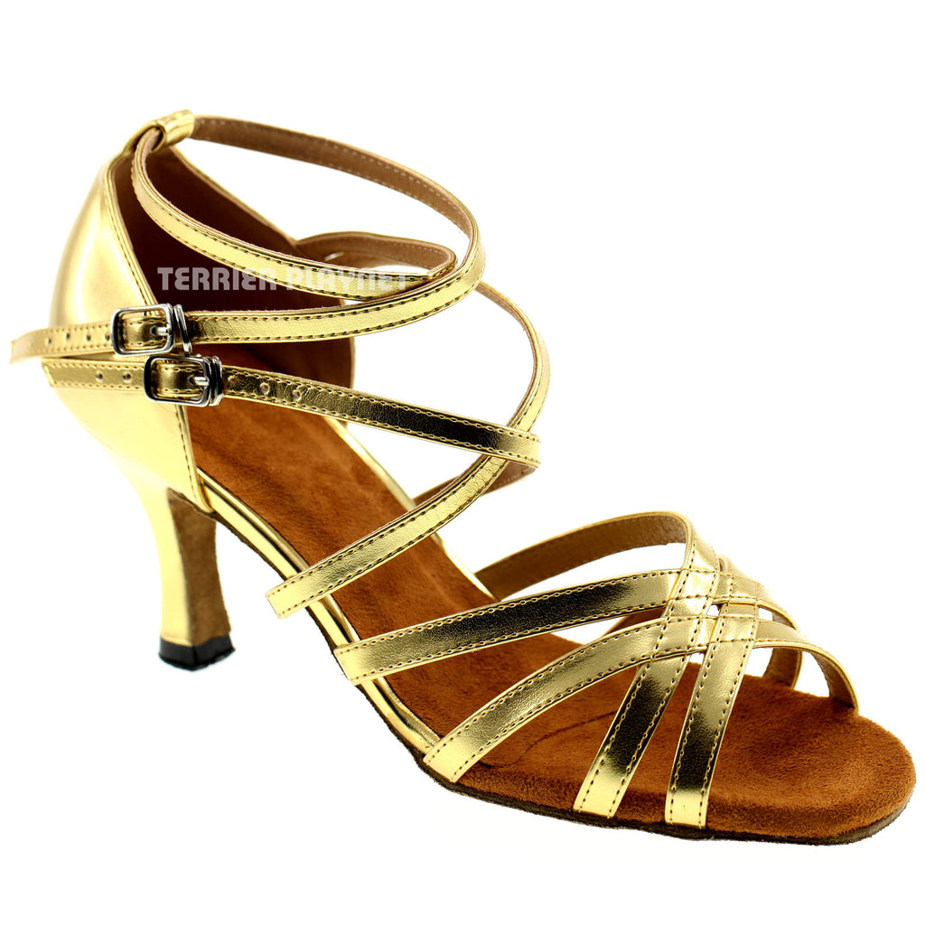 Gold Women Dance Shoes D104 - Terrier Playnet Shop
