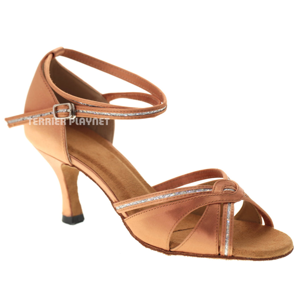 Tan Women Dance Shoes D1077