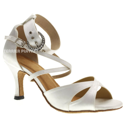 White Women Dance Shoes D1079