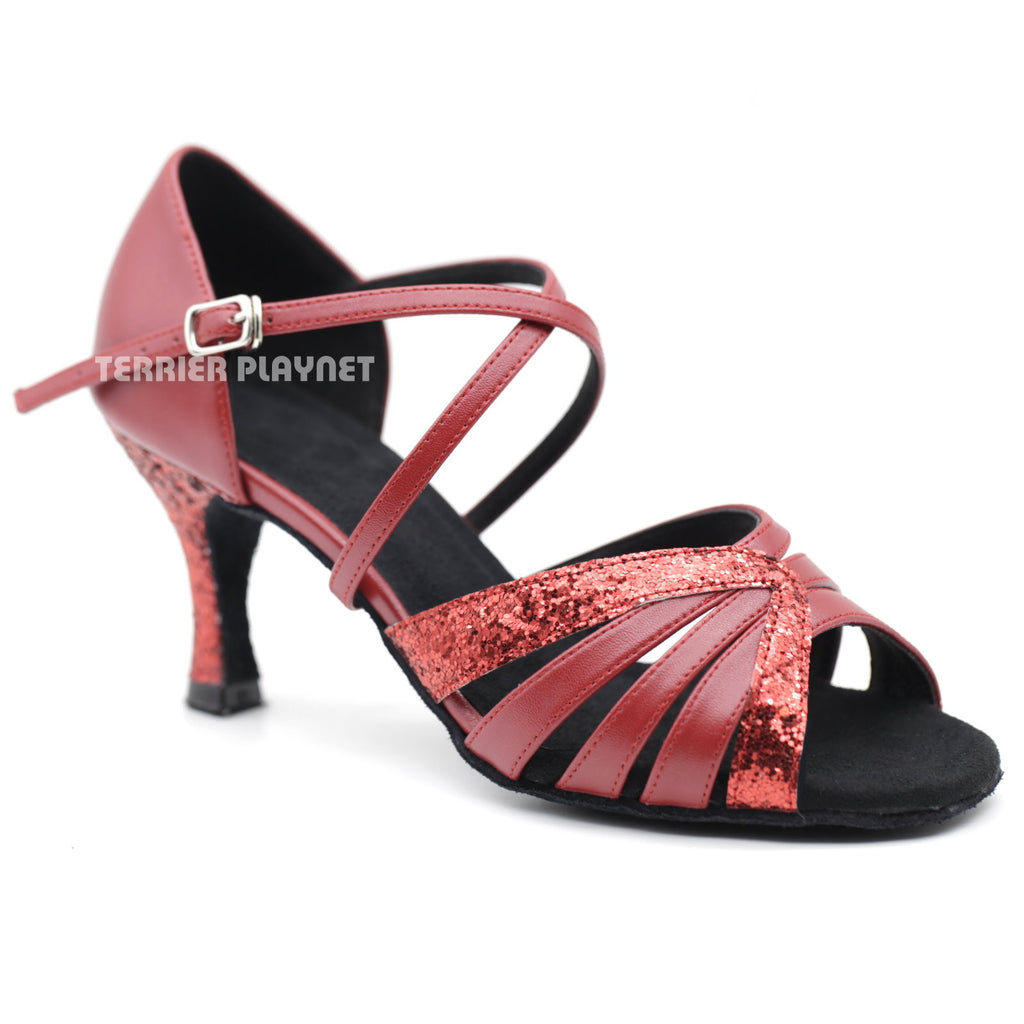 Red Women Dance Shoes D1089