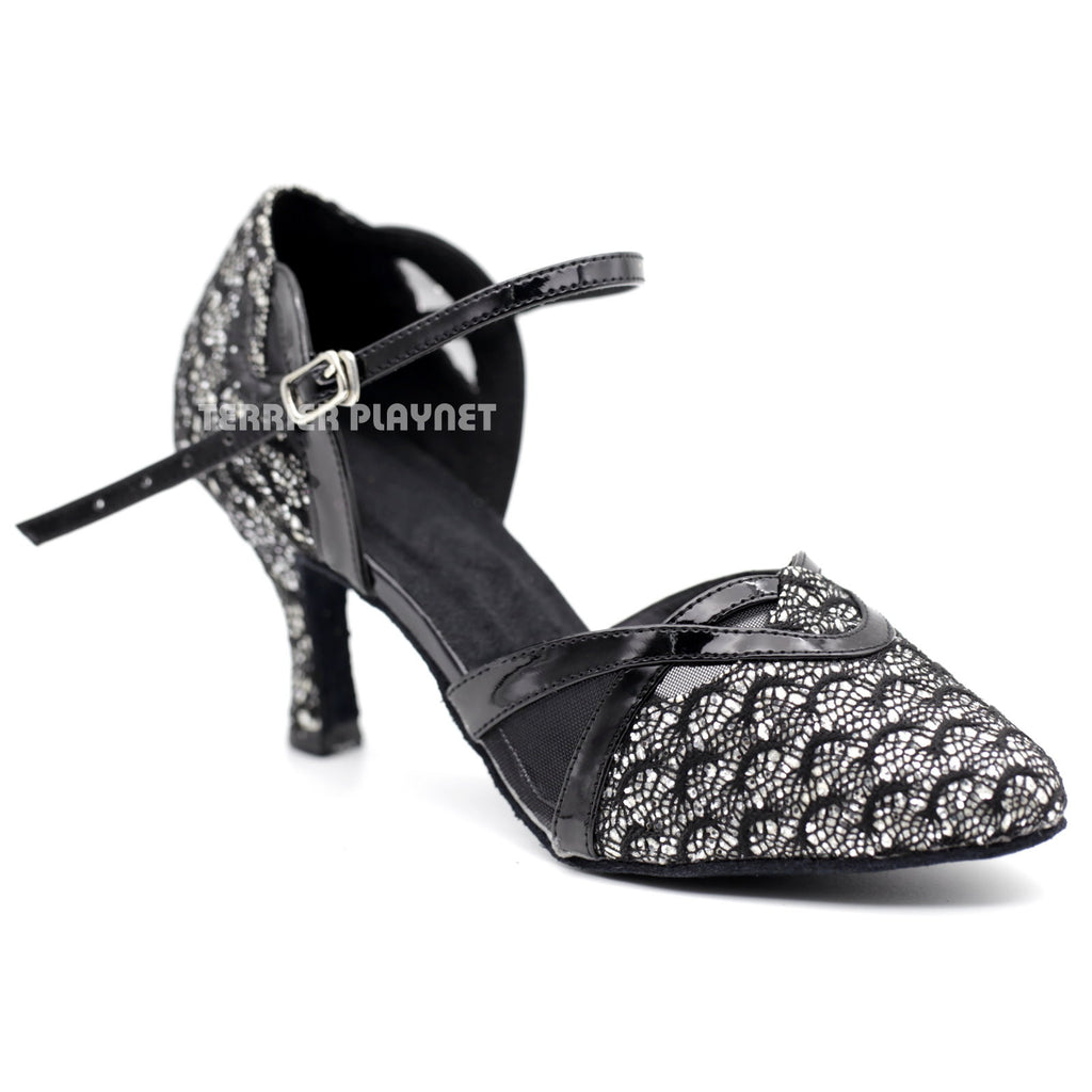 Black & Silver Women Dance Shoes D1098 - Terrier Playnet Shop