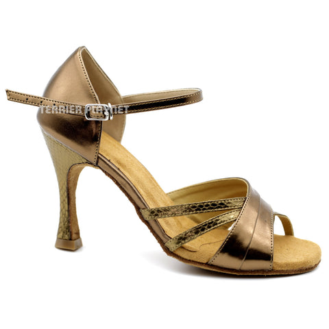Bronze Women Dance Shoes D1107