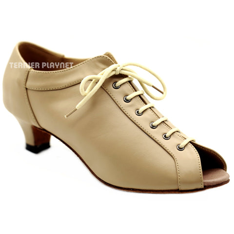 High Quality Flesh Leather Women Dance Shoes D1130