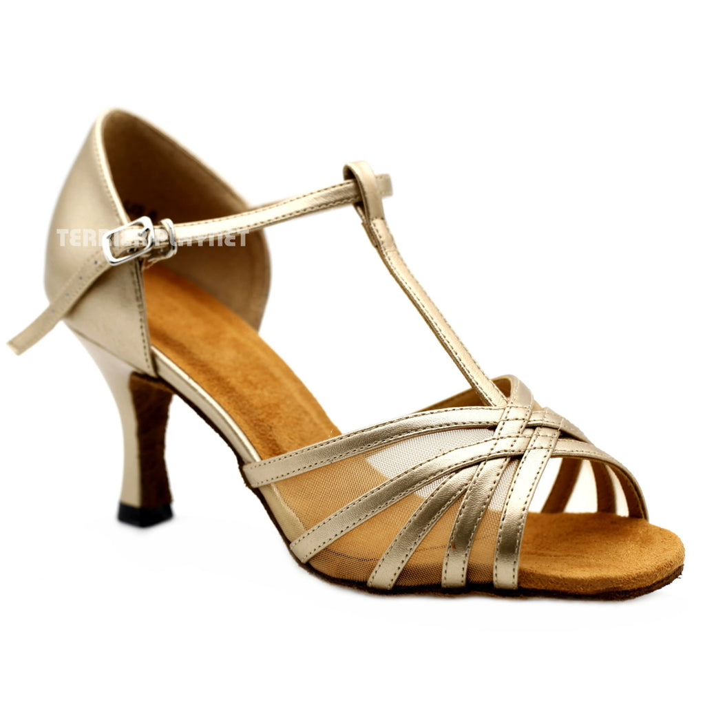 Champagne Gold Women Dance Shoes D1142