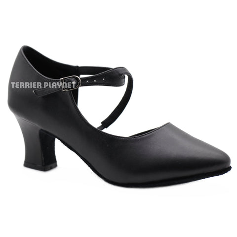 Black Women Dance Shoes D1145 UK5.5/US8/EU39 2.5B Inches/6.5cm Block Heel