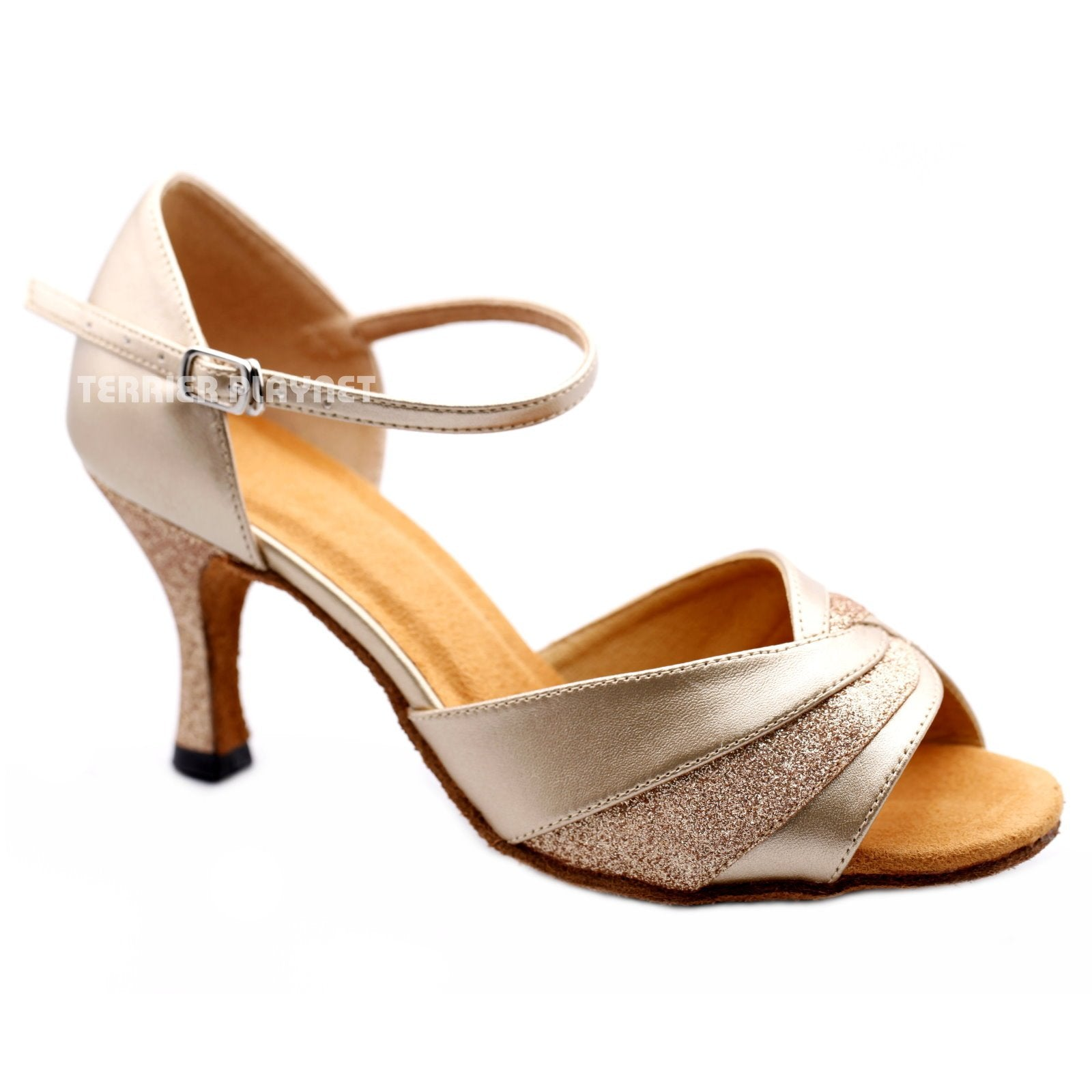 e7666ee1db46 Champagne Gold Women Dance Shoes D1173 UK4.5 US7 EU37.5 2.5 Inches ...