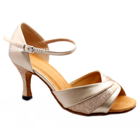 Champagne Gold Women Dance Shoes D1173
