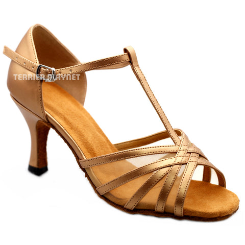 Light Bronze Women Dance Shoes D1177