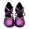 Purple Women Dance Shoes D1188 UK5.5/US8/EU39 2.5 Inches / 6.25cm - Terrier Playnet Shop