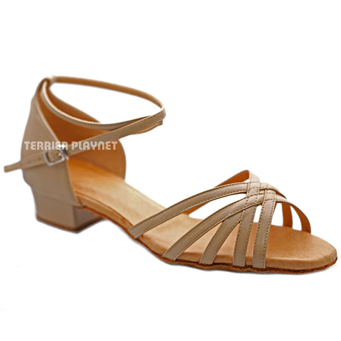 High Quality Flesh Leather Women Dance Shoes D1210