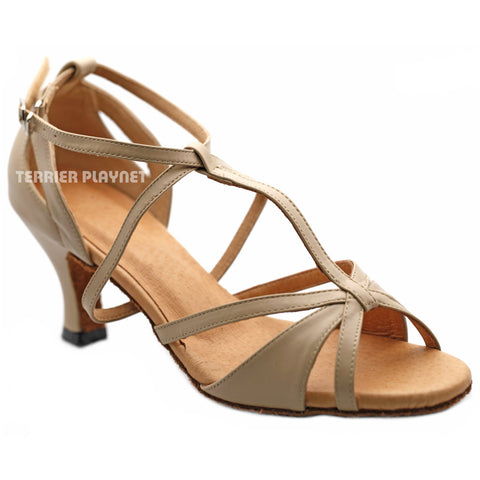High Quality Flesh Leather Women Dance Shoes D1211