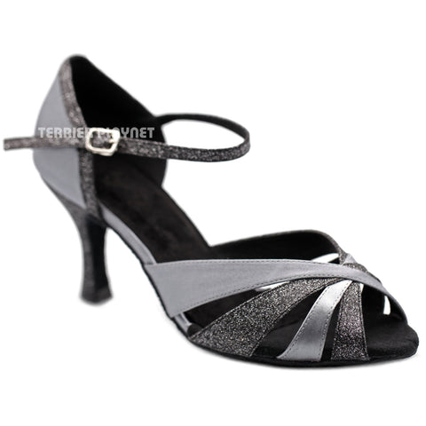 Silver Gray Women Dance Shoes D1258