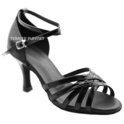 High Quality Black Leather Women Dance Shoes D1277
