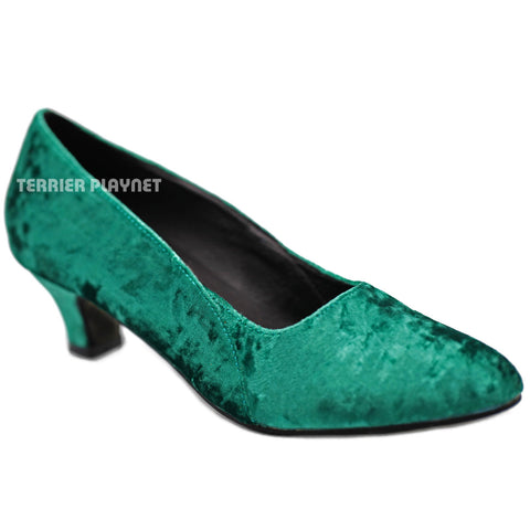 Green Women Dance Shoes D1288