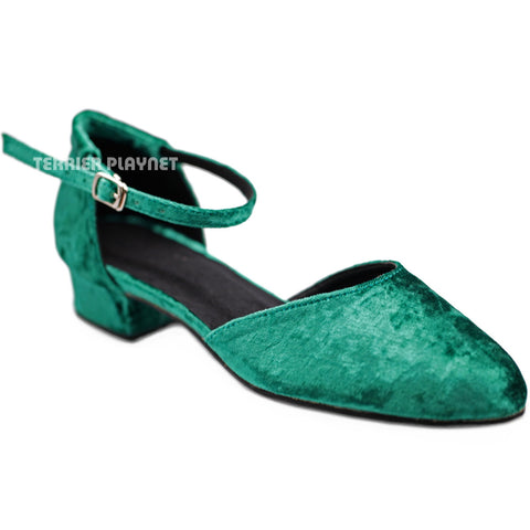 Green Women Dance Shoes D1289