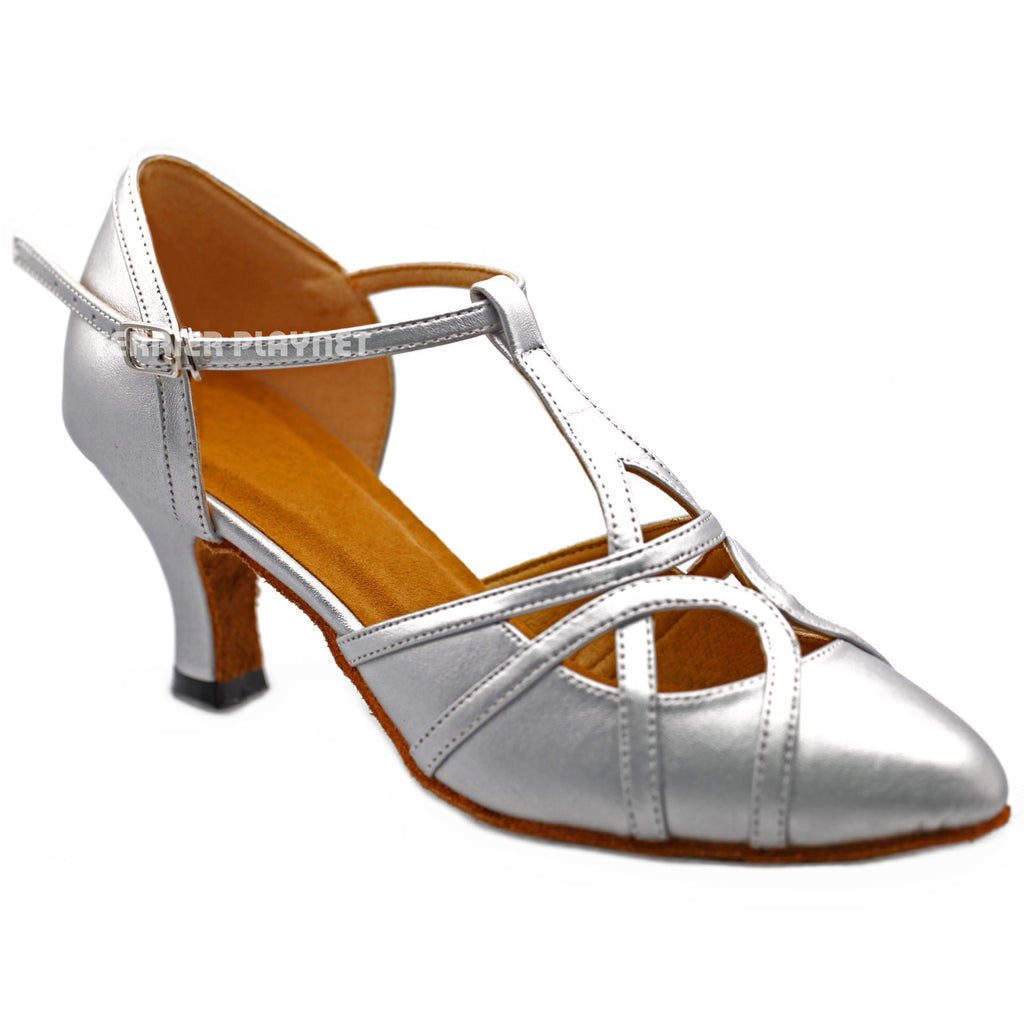 Silver Women Dance Shoes D1295 - Terrier Playnet Shop