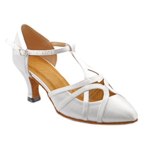 White Women Dance Shoes D1298
