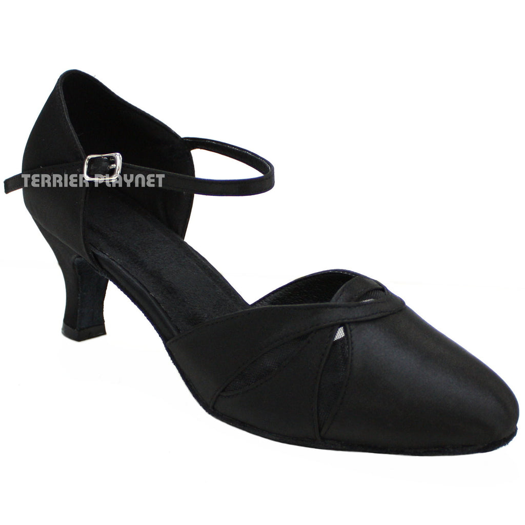 Black Women Dance Shoes D138 - Terrier Playnet Shop