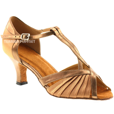 Bronze & Tan Women Dance Shoes D145