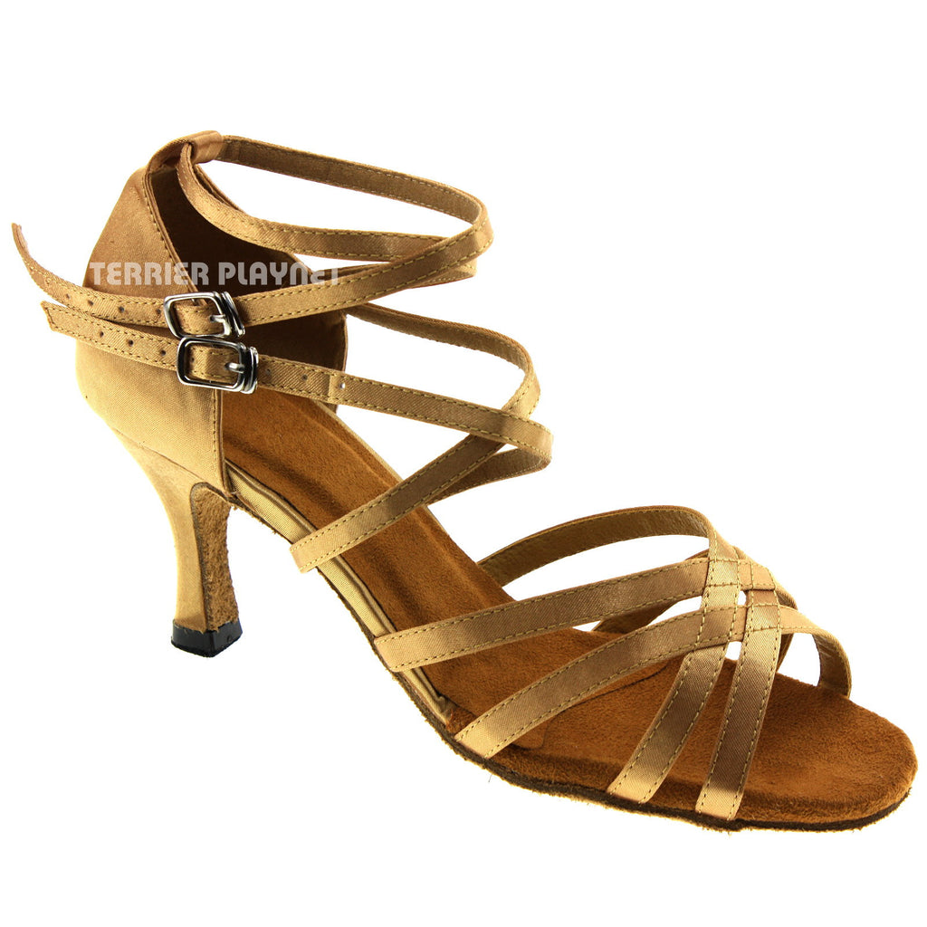 Gold Women Dance Shoes D159 - Terrier Playnet Shop