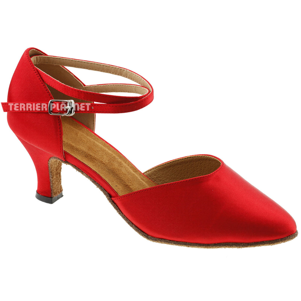 Red Women Dance Shoes D171 - Terrier Playnet Shop
