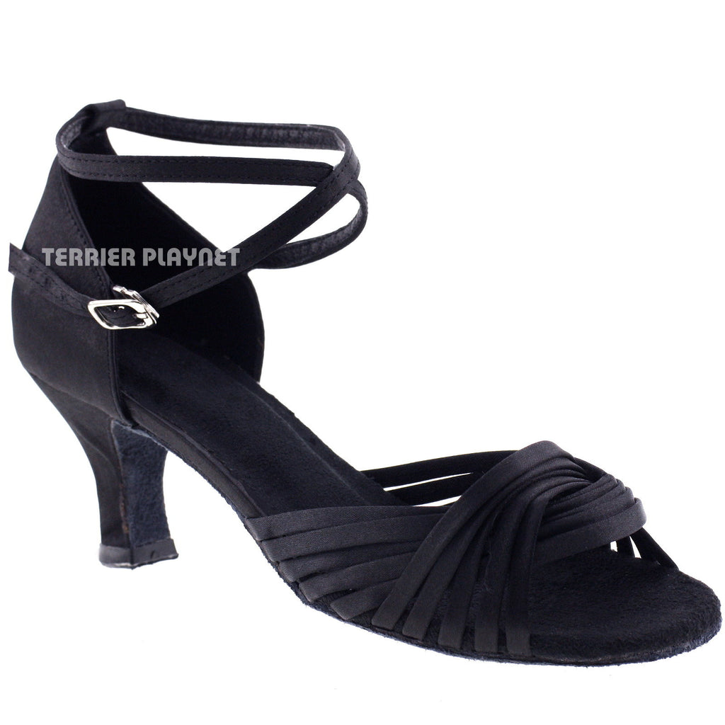 Black Women Dance Shoes D190 - Terrier Playnet Shop