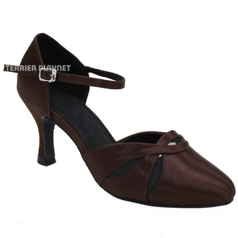 Brown Women Dance Shoes D200