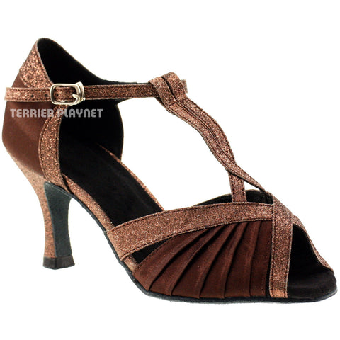 Brown Women Dance Shoes D207