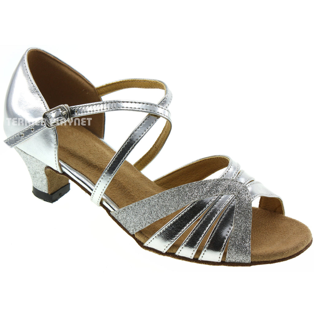 Silver Women Dance Shoes D20 - Terrier Playnet Shop