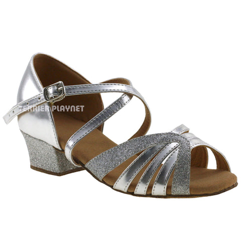 Silver Children Dance Shoes D20C