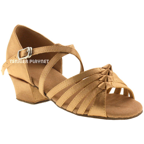 Gold Children Dance Shoes D217C