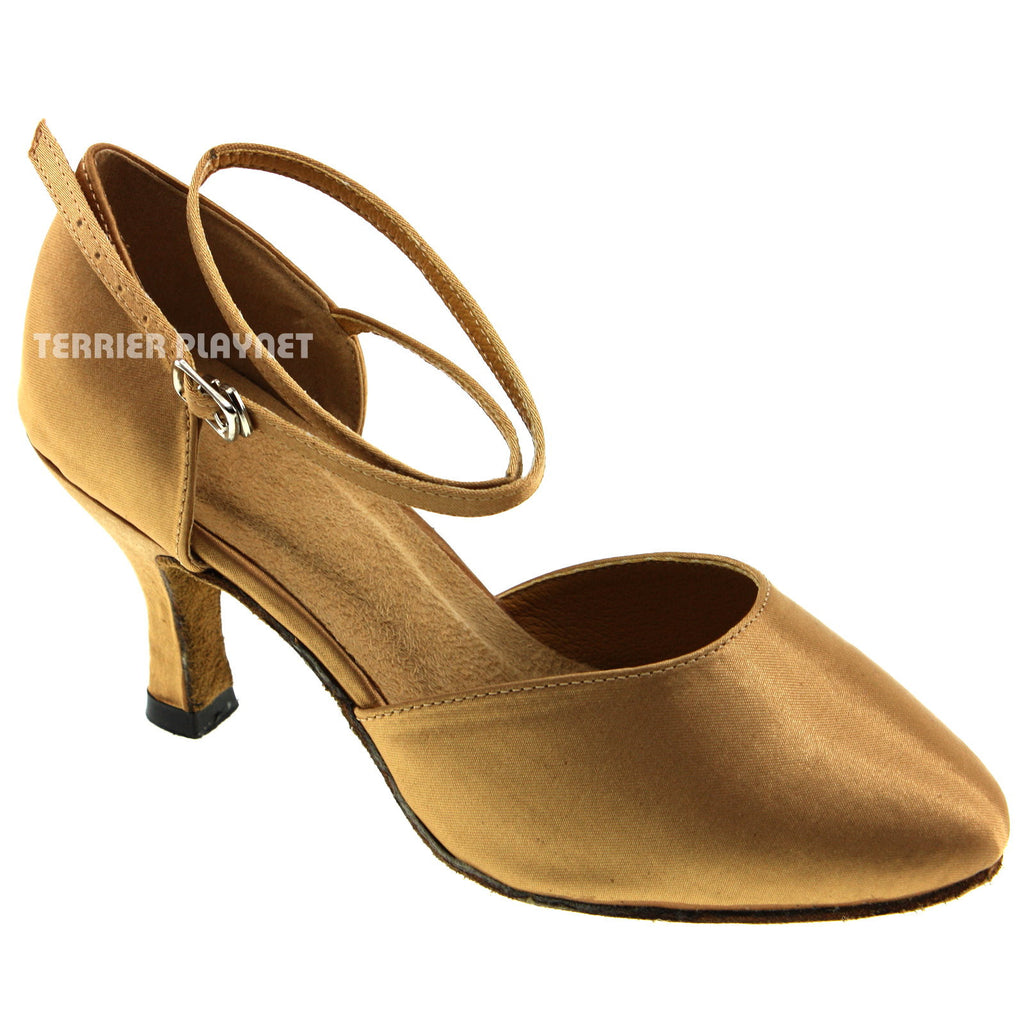 Gold Women Dance Shoes D223 - Terrier Playnet Shop