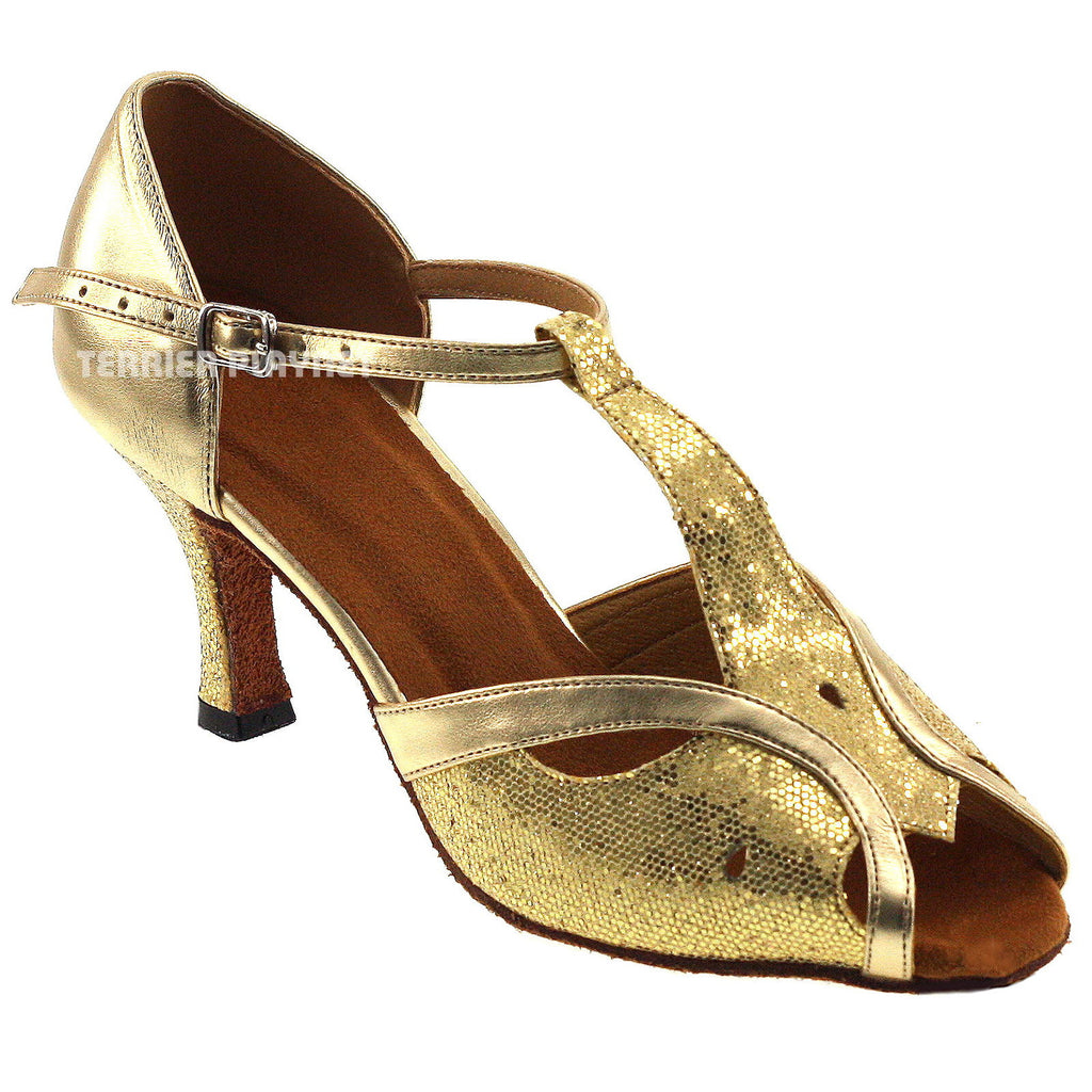 Light Gold Women Dance Shoes D228