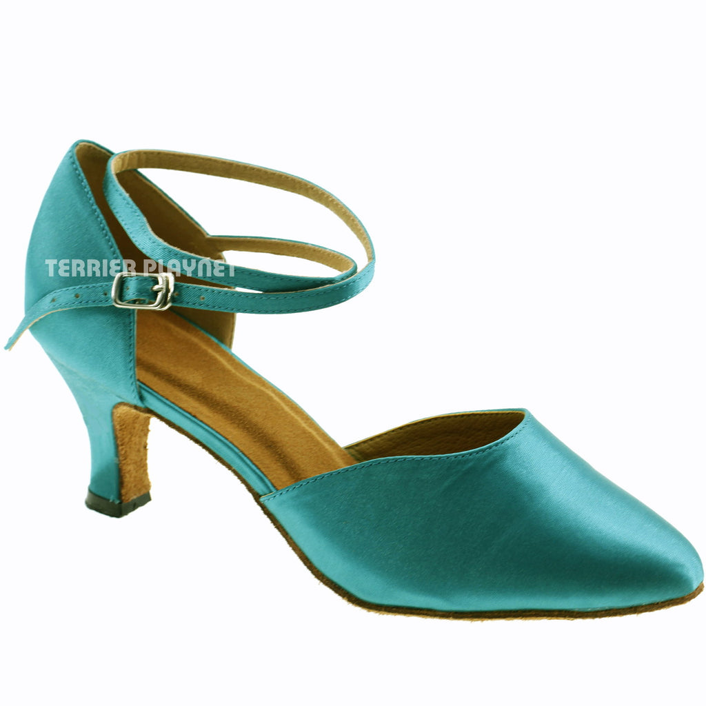 Turquoise Women Dance Shoes D239 - Terrier Playnet Shop