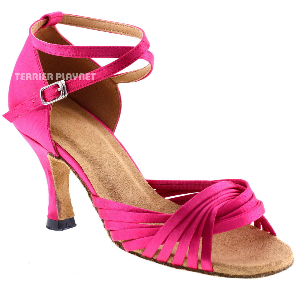 Hot Pink Women Dance Shoes D255 - Terrier Playnet Shop