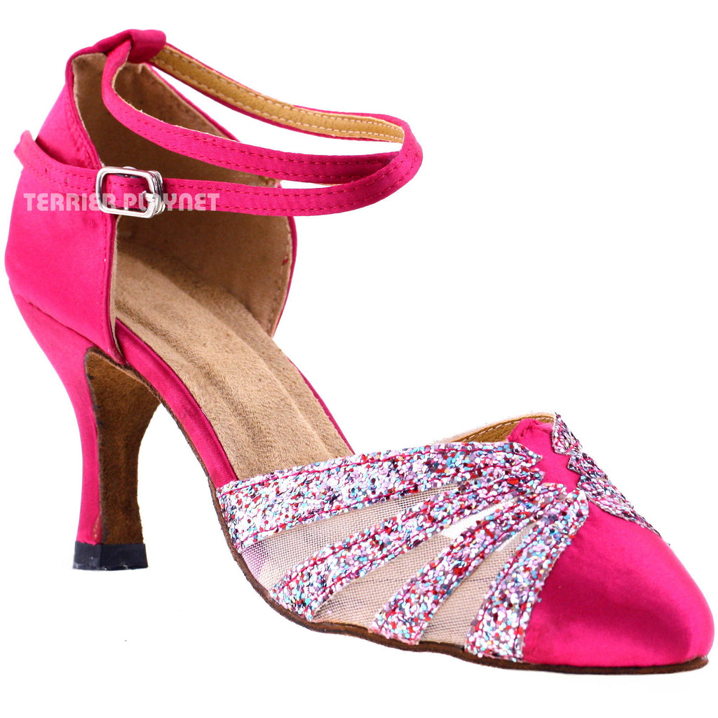 Hot Pink Women Dance Shoes D260