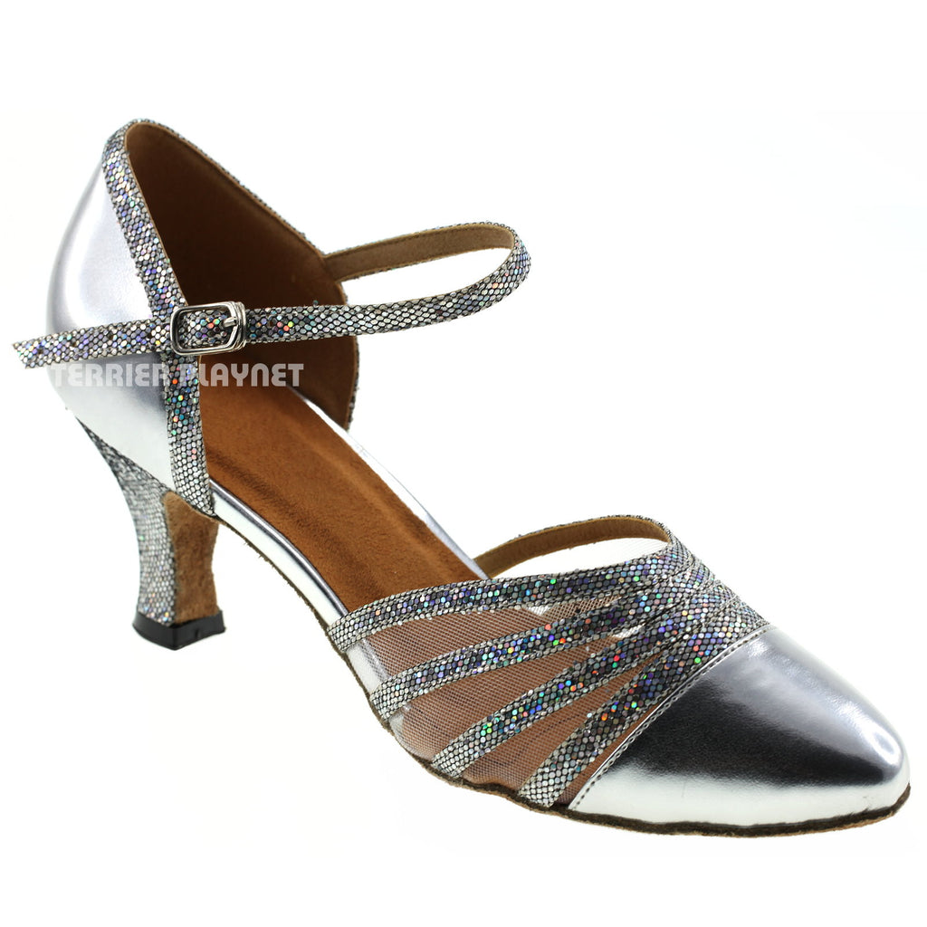 Silver Women Dance Shoes D261 - Terrier Playnet Shop