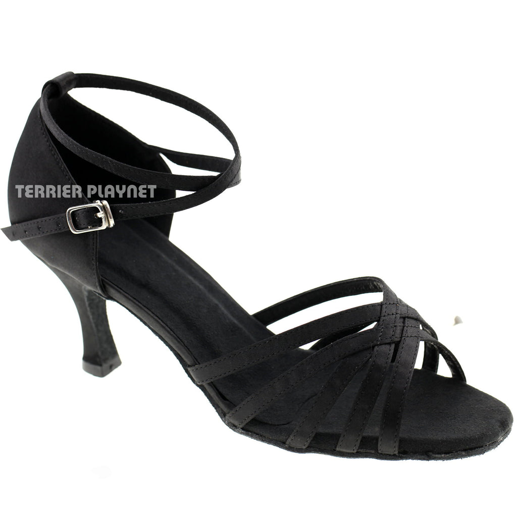 Black Women Dance Shoes D273 - Terrier Playnet Shop