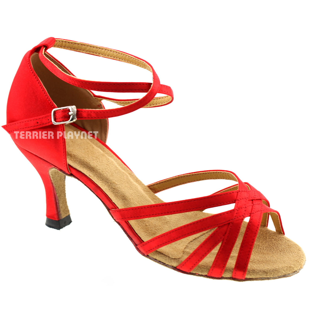 Red Women Dance Shoes D277 - Terrier Playnet Shop