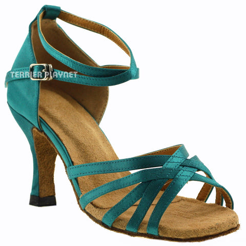 Turquoise Women Dance Shoes D278