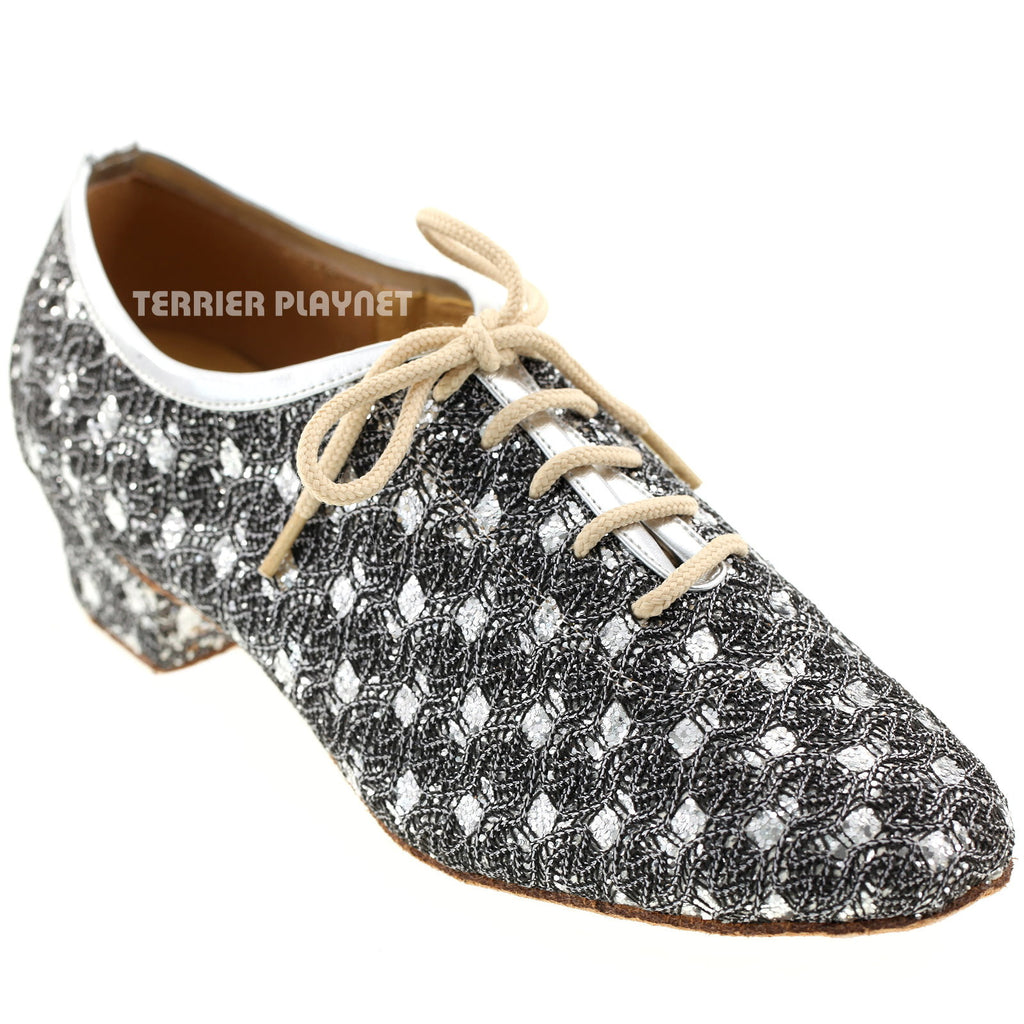 Silver Women Dance Shoes D282 - Terrier Playnet Shop