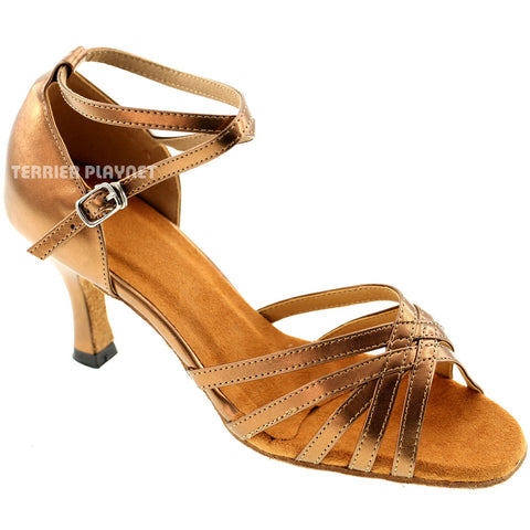 Bronze Women Dance Shoes D285
