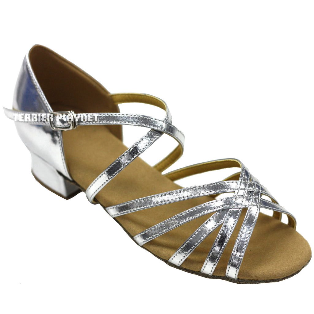 Silver Children Dance Shoes D287C - Terrier Playnet Shop