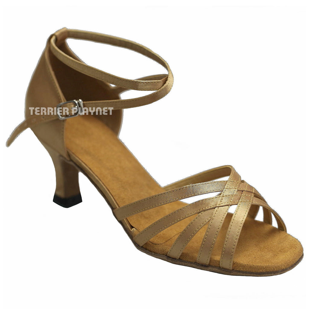 Gold Women Dance Shoes D288 - Terrier Playnet Shop