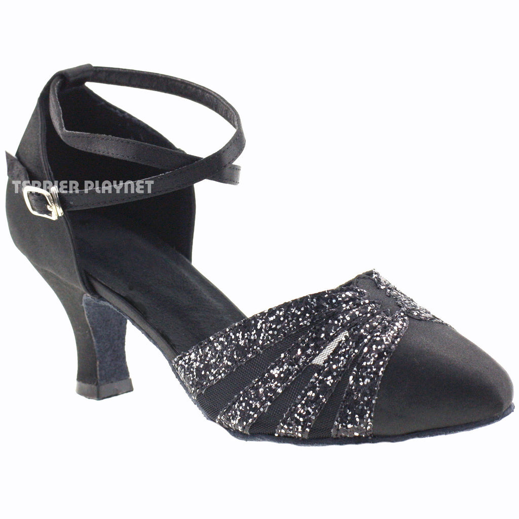 Black Women Dance Shoes D306 - Terrier Playnet Shop