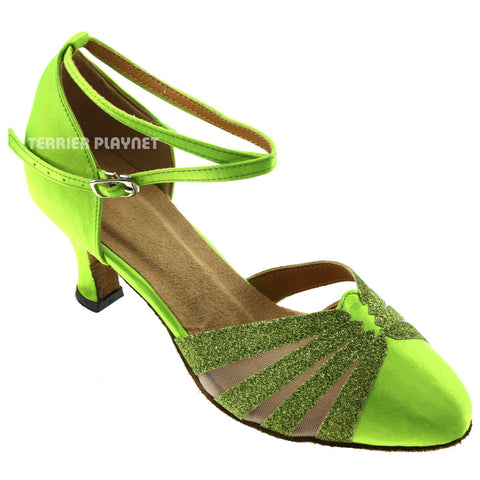 Light Green Women Dance Shoes D308
